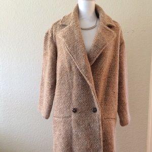 Zara textured wool knit coat
